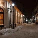 Iarna in Centrul Vechi din București