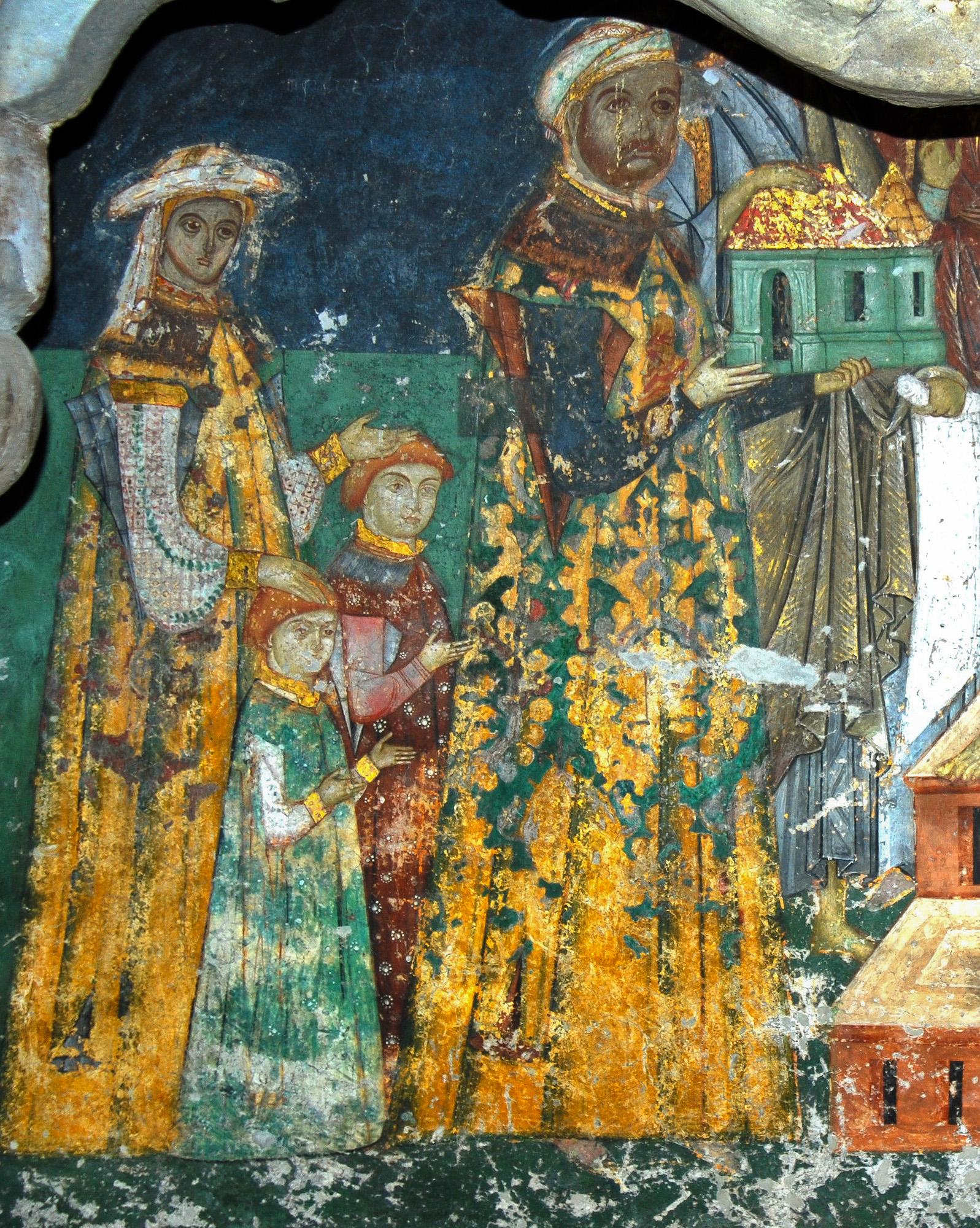 Chivotul de mormânt a lui Luca Arbore - Alaturi de al Jupâneasa Iuliana și doi dintre copii săi
